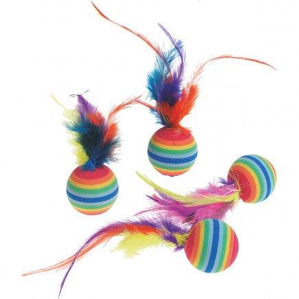 Karlie Ps 4 Rainbowballen Met Veer