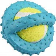 Hondenspeelgoed Rubber met tennisbal